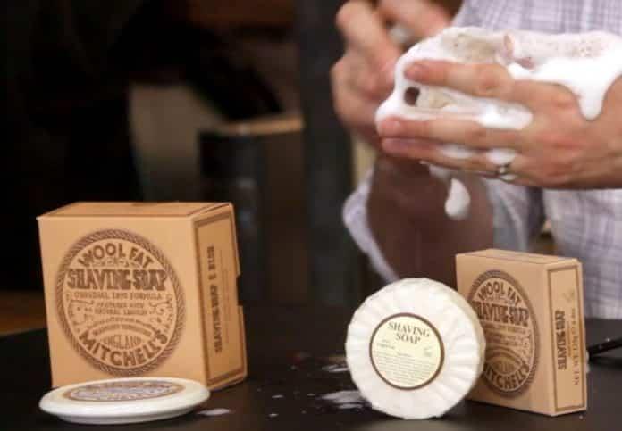 wool fat shaving soap