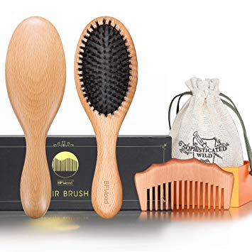 BFWood Pure Boar Bristle Brush