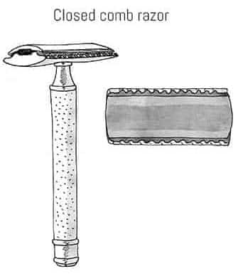 Closed Comb Razors