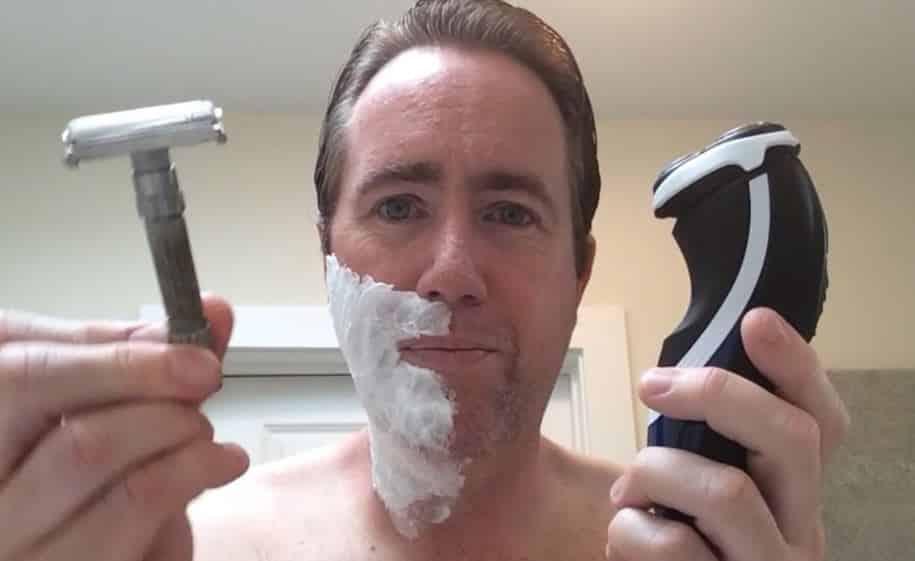dry shaving vs wet shaving