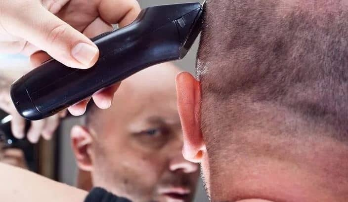 Cut Hair Down to Stubble with electric razor