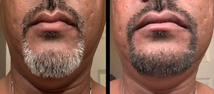 convert white beard to black naturally